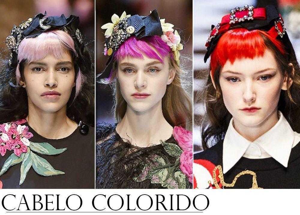 Tendencias de Beleza dos Desfiles Internacionais CABELO COLORIDO