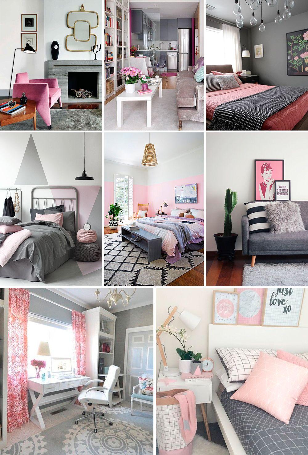 decor- cinza e rosa blog da mariah
