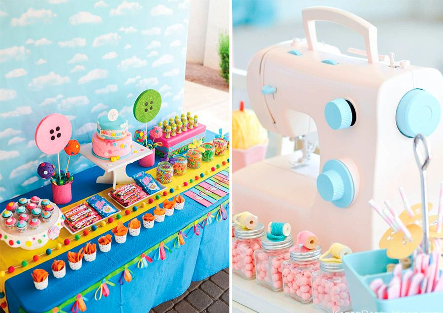 Temas diferentes de festa infantil costura
