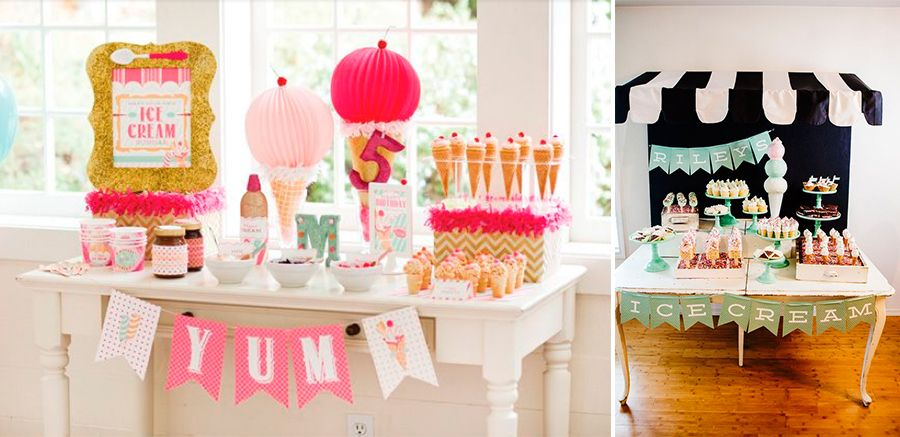 Temas diferentes de festa infantil sorvete