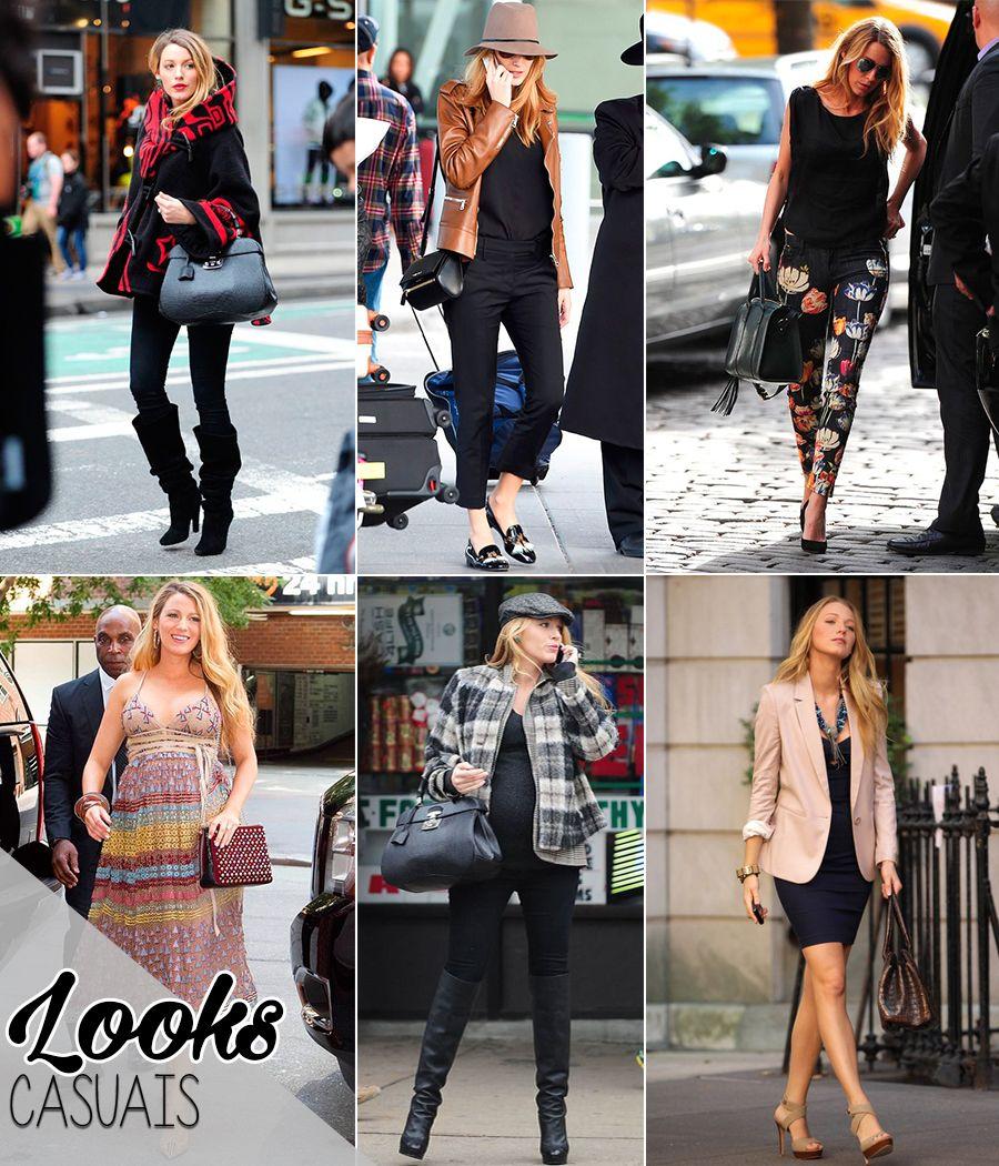 estilo de famosa blake lively blog da mariah look casuais