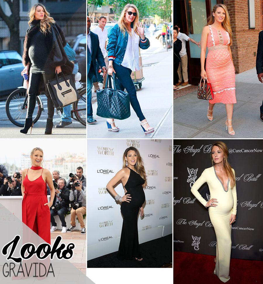 estilo de famosa blake lively blog da mariah look gravida